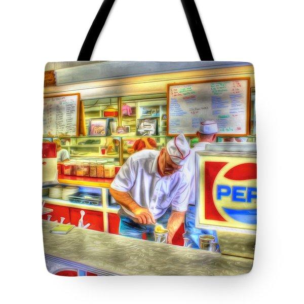 The Malt Shoppe Tote Bag by Dan Stone
