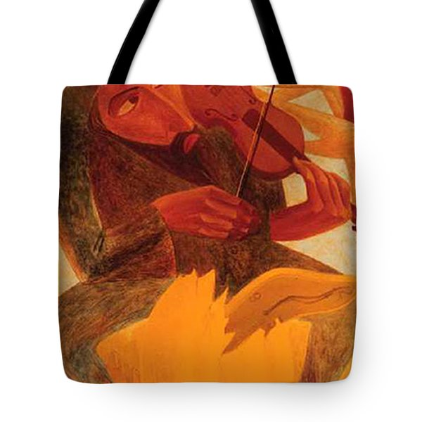 The Man And Mouse Tote Bag