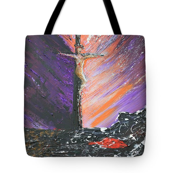 The Man On The Cross Tote Bag by Alys Caviness-Gober