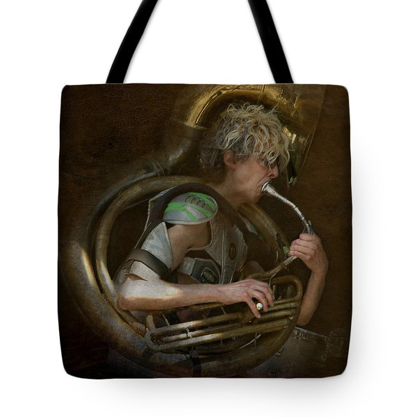 The Man - The Tuba Tote Bag by Jeff Burgess