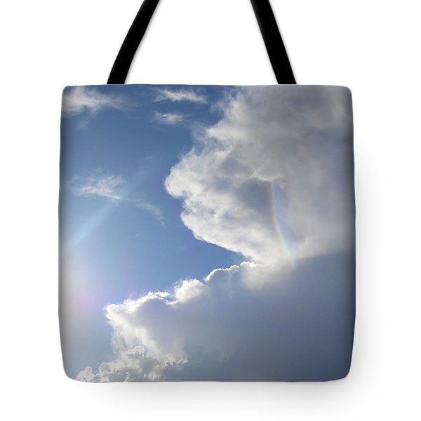 Tote Bag featuring the photograph Rainbow Tears by Deborah Moen