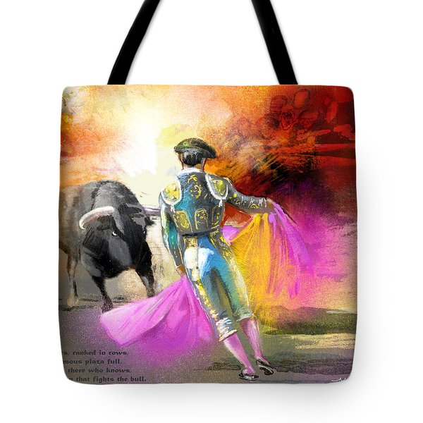 The Man Who Fights The Bull Tote Bag