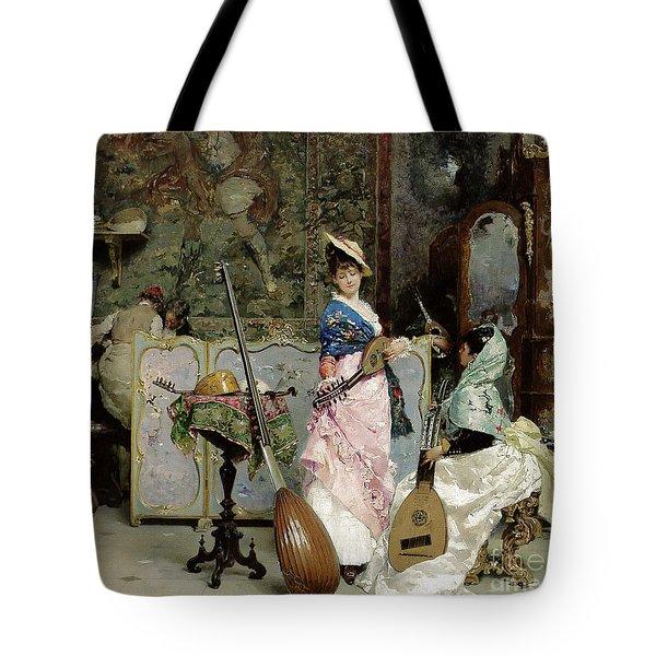 The Mandolin Shop Tote Bag by Vincenzo Capobianchi