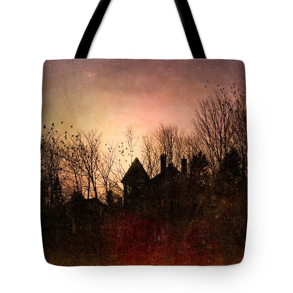 The Mansion Is Warm At The Top Of The Hill Tote Bag by Bob Orsillo