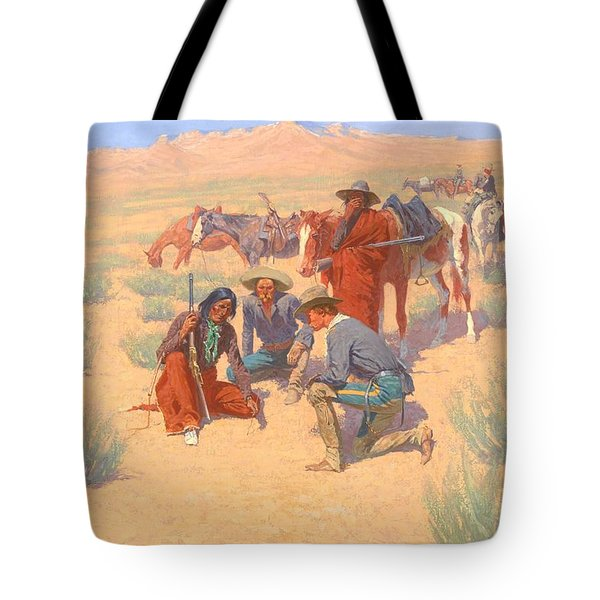The Map In The Sand, 1905  Tote Bag