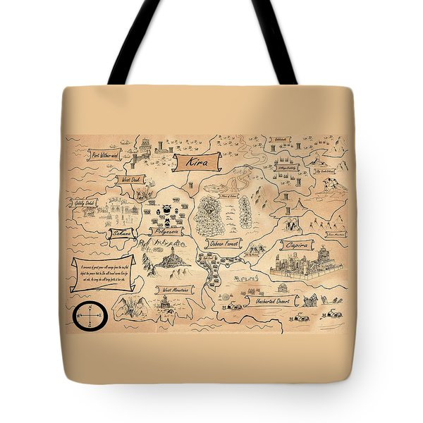 Tote Bag featuring the painting The Map Of Kira by Reynold Jay