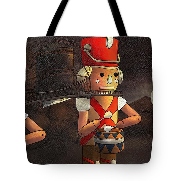 Press Release Christmas Nut Crackers Tote Bag