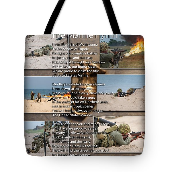 The Marine Corp Hymn Tote Bag by Thomas Woolworth