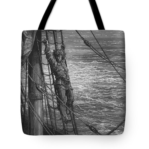 The Mariner Describes To His Listener The Wedding Guest His Feelings Of Loneliness And Desolation  Tote Bag by Gustave Dore
