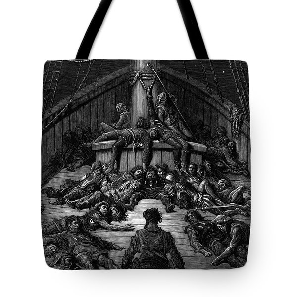 The Mariner Gazes On His Dead Companions And Laments The Curse Of His Survival While All His Fellow  Tote Bag