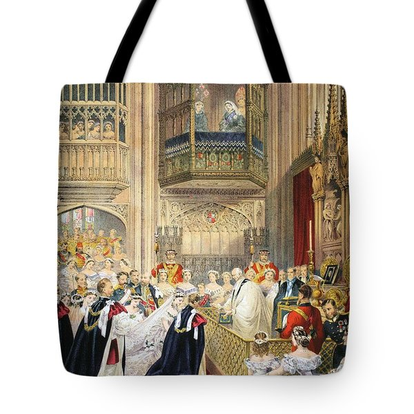 The Marriage At St Georges Chapel Tote Bag by English School