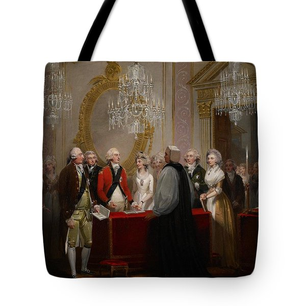 The Marriage Of The Duke And Duchess Of York Tote Bag by Henry Singleton