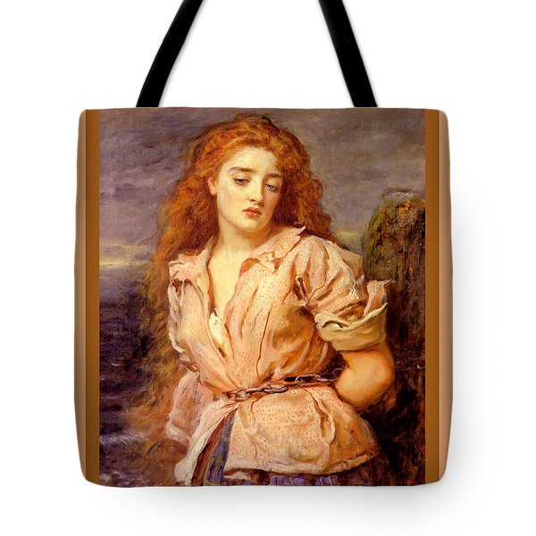 The Martyr Of The Solway Poster Tote Bag by John Everett Millais