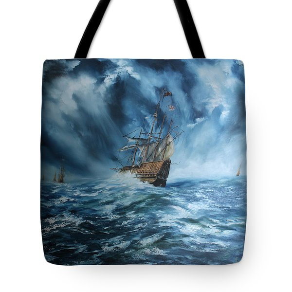 The Mary Rose And Fleet Tote Bag