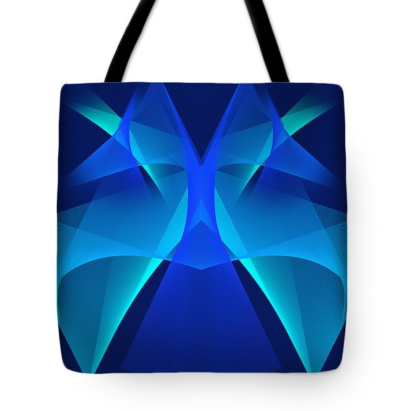 Tote Bag featuring the digital art The Mask#2 by Karo Evans