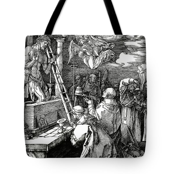 The Mass Of St. Gregory Tote Bag by Albrecht Duerer
