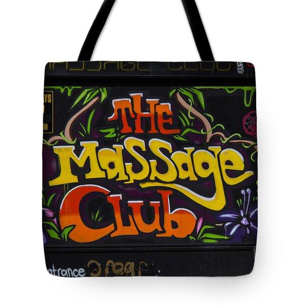 The Massage Club Tote Bag by Brian Roscorla
