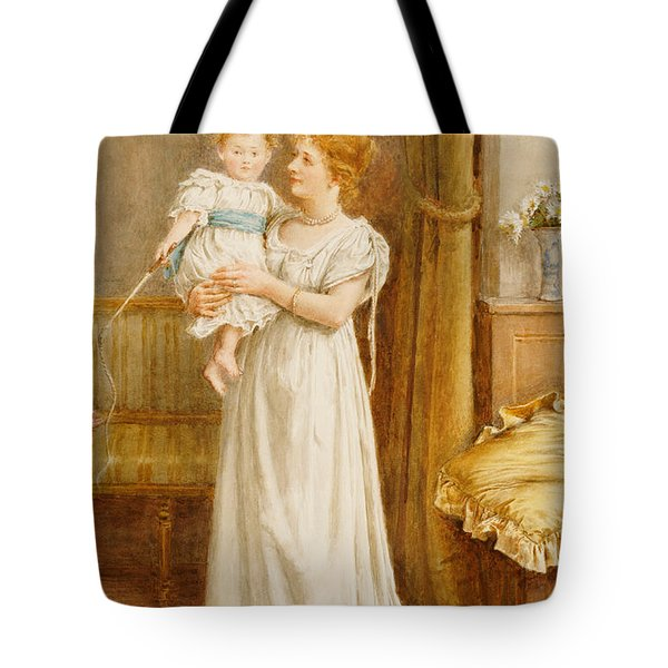 The Master Of The House Tote Bag by George Goodwin Kilburne
