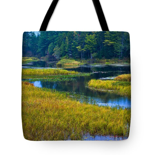 The Meandering Moose River - Old Forge New York Tote Bag by David Patterson