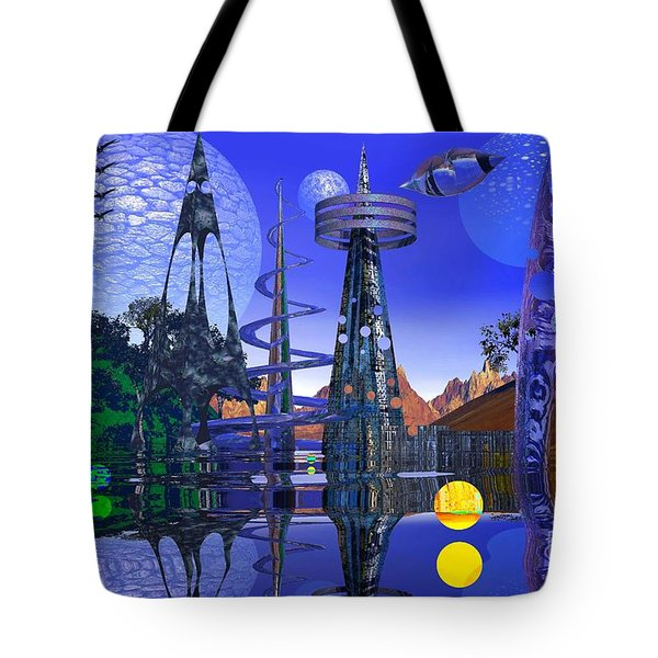 The Mechanical Wonder Tote Bag by Mark Blauhoefer