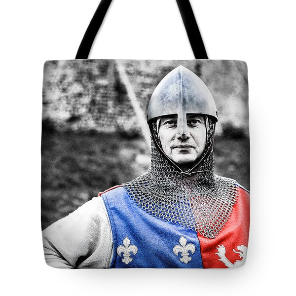 Tote Bag featuring the photograph The Medieval Warrior by Stwayne Keubrick