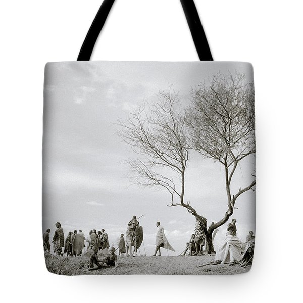 The Meeting Tote Bag by Shaun Higson