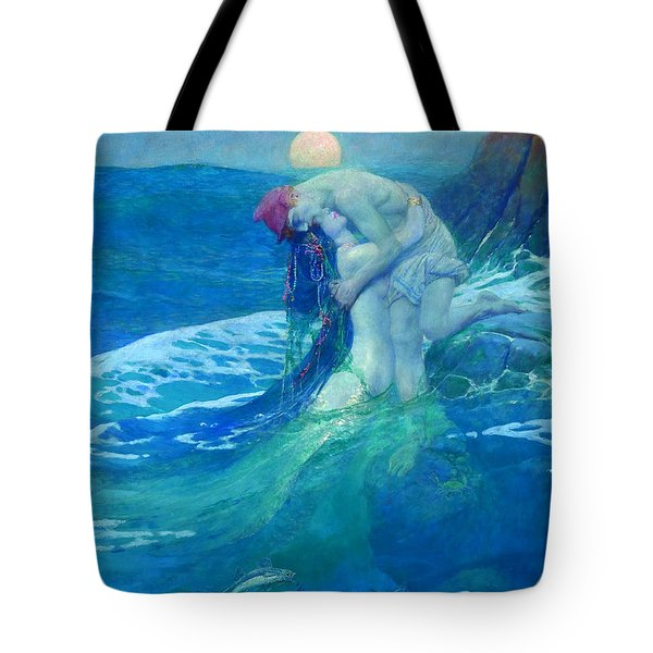 Tote Bag featuring the painting The Mermaid by Howard Pyle