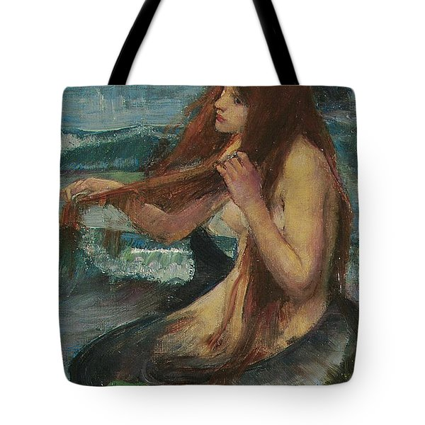 The Mermaid Tote Bag by John William Waterhouse
