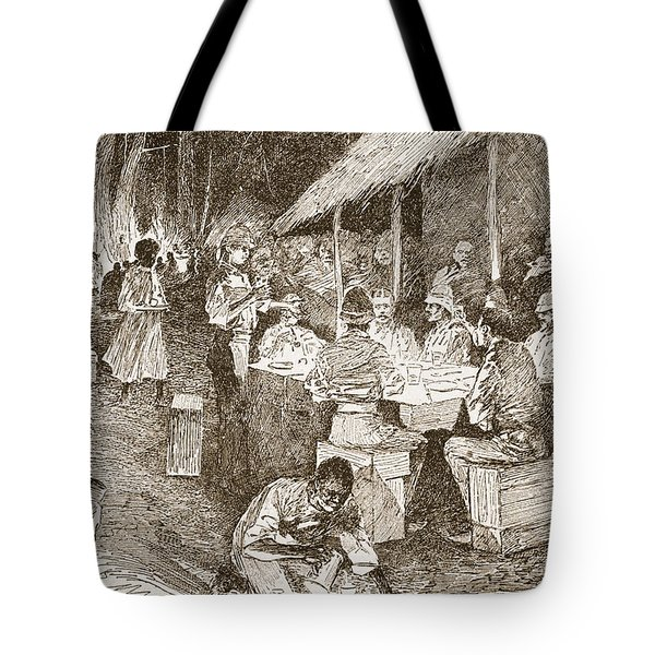 The Mess Table In The Forest Tote Bag by Henry Charles Seppings Wright