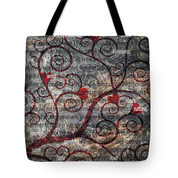 The Message Tree Tote Bag by Kim Prowse