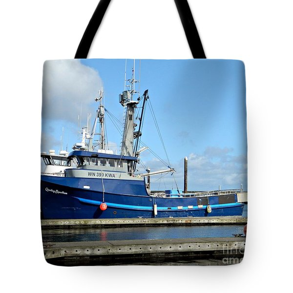 The Mighty Blue Tote Bag by Chalet Roome-Rigdon