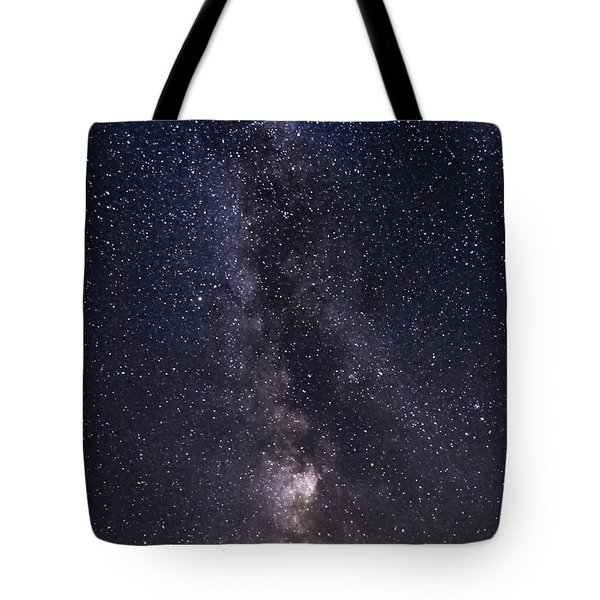 The Milky Way From Phippsburg Maine Usa Tote Bag