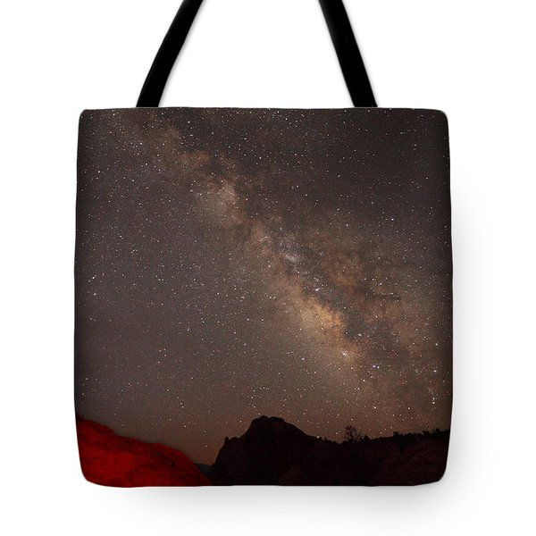 The Milky Way Over Mesa Arch Tote Bag