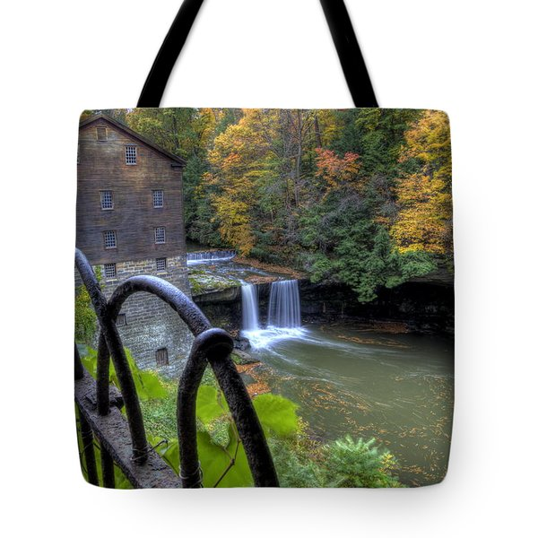 The Mill And Falls At Mill Creek Park Tote Bag