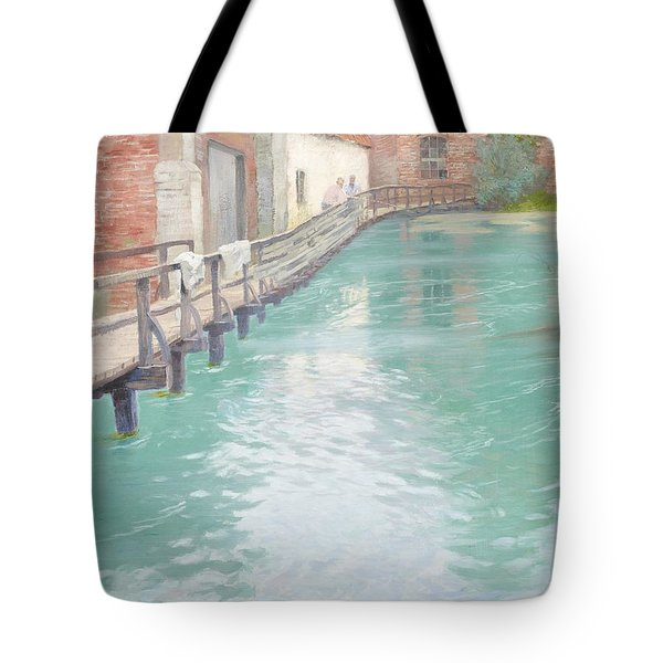 The Mills At Montreuil Sur Mer Normandy Tote Bag by Fritz Thaulow