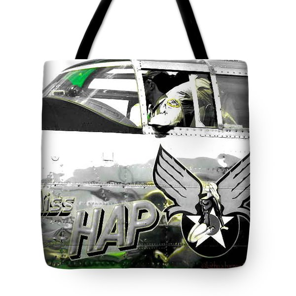 Tote Bag featuring the photograph The Miss Hap by Kathy Barney