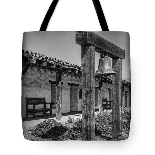 The Mission Bell B/w Tote Bag by Hanny Heim