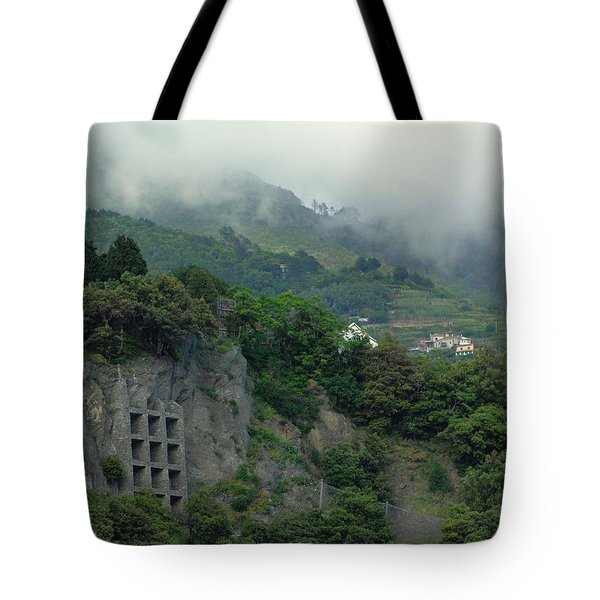 Tote Bag featuring the photograph The Mist Cometh by Natalie Ortiz