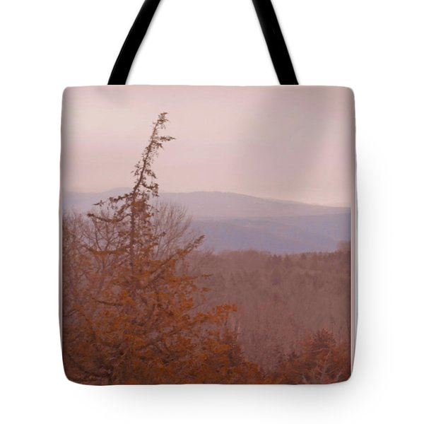 The Misty Mountains On A Misty Day Tote Bag by Patricia Keller