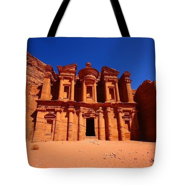 The Monastery Tote Bag by FireFlux Studios