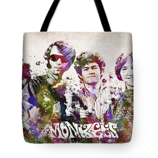 The Monkees Tote Bag by Aged Pixel