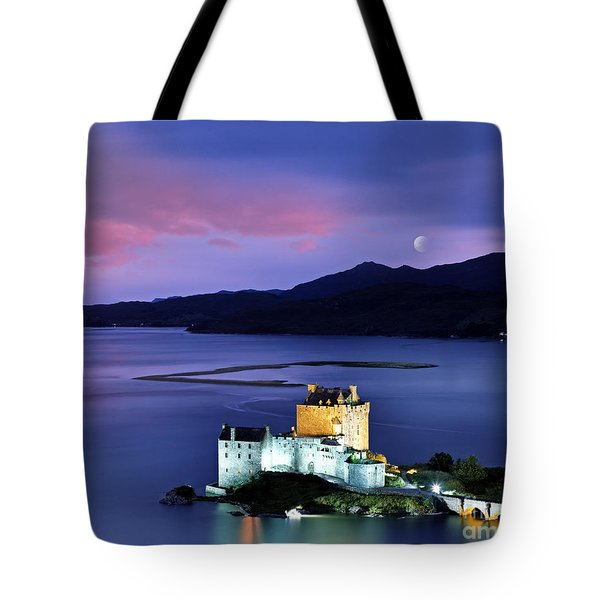 The Moon Above Tote Bag