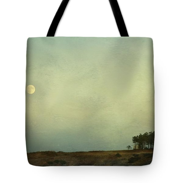 The Moon Above The Trees Tote Bag