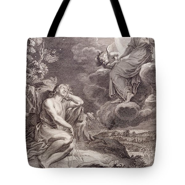 The Moon And Endymion Tote Bag by Bernard Picart
