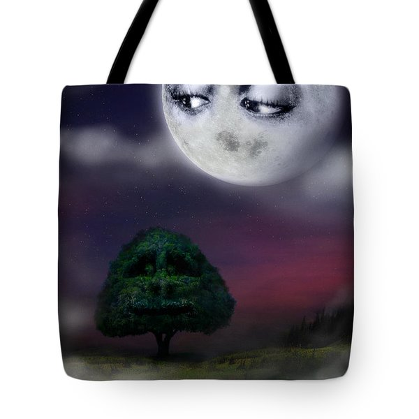 The Moon And The Tree Tote Bag