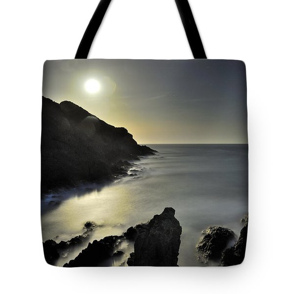 The Moon Tote Bag by Guido Montanes Castillo