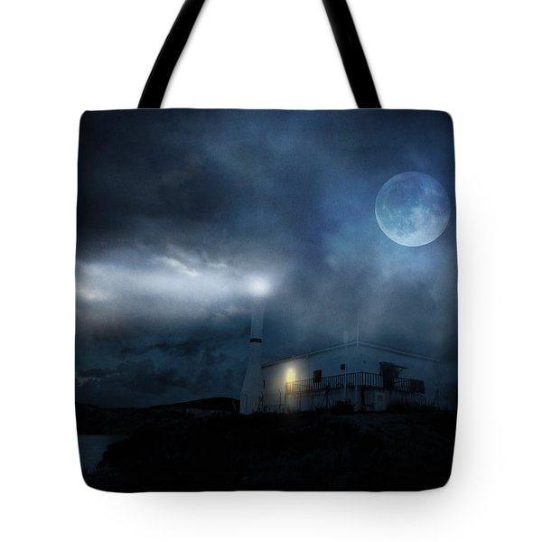 The Moon Touches Your Shoulder Tote Bag by Taylan Apukovska