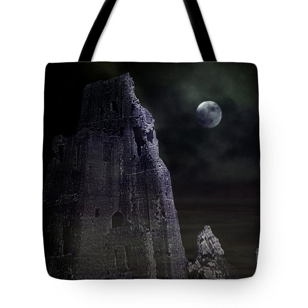 The Moonshine On The Castle Tote Bag by Terri Waters