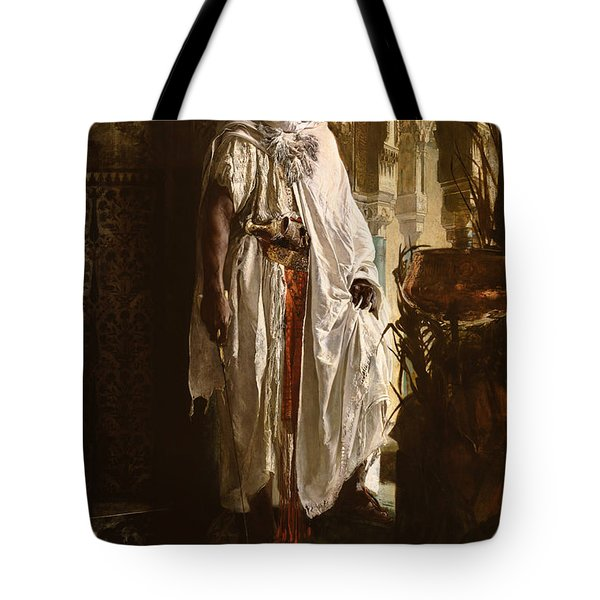 Tote Bag featuring the painting The Moorish Chief by Eduard Charlemont