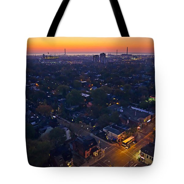 The Morning Bus Tote Bag by Keith Armstrong
